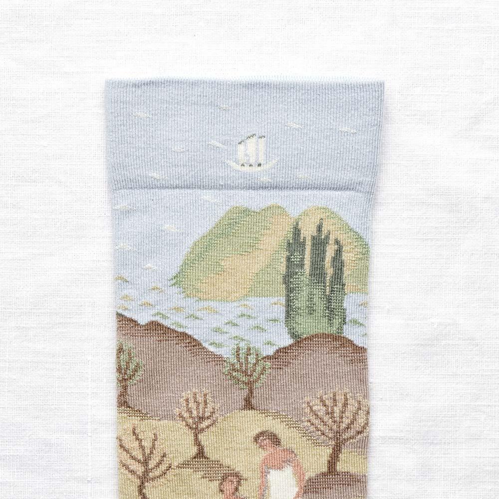 Bonne Maison|微光夜浴 純棉織襪