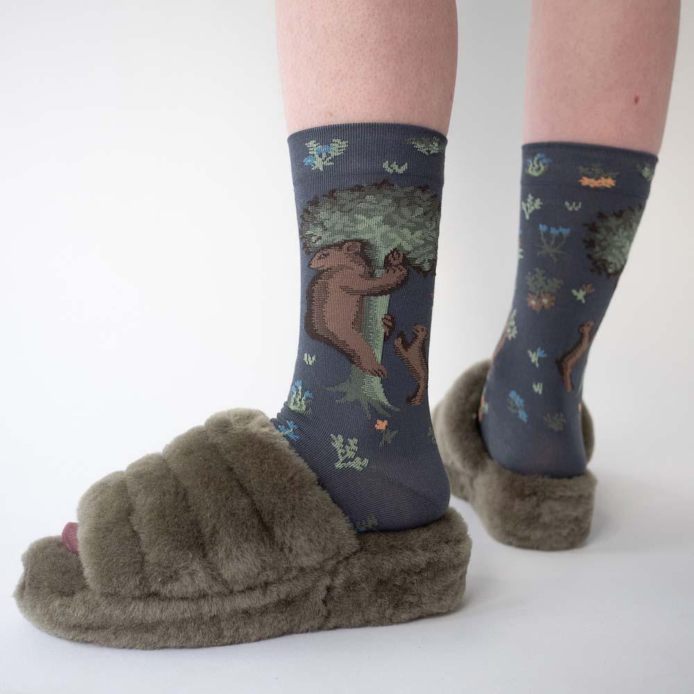 Bonne Maison 小熊森林 純棉織襪
