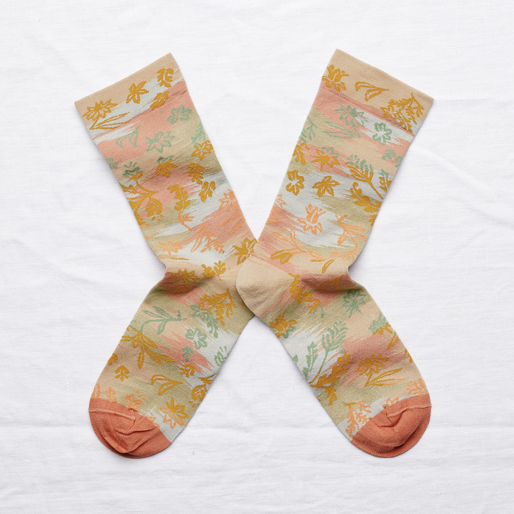 Bonne Maison|秋楓澄澄 純棉織襪