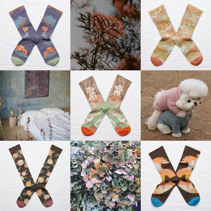 Bonne Maison 小熊森林 純棉織襪 純棉織襪