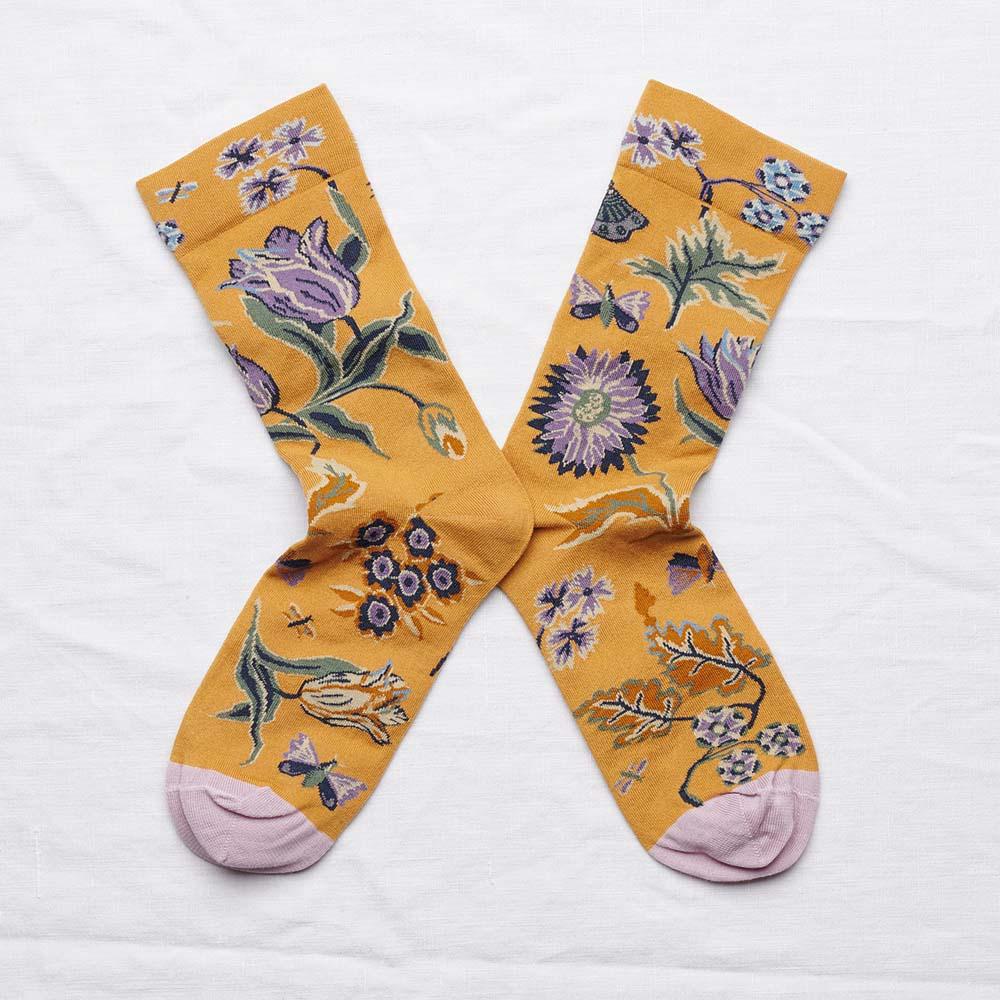 Bonne Maison|金色午后 純棉織襪