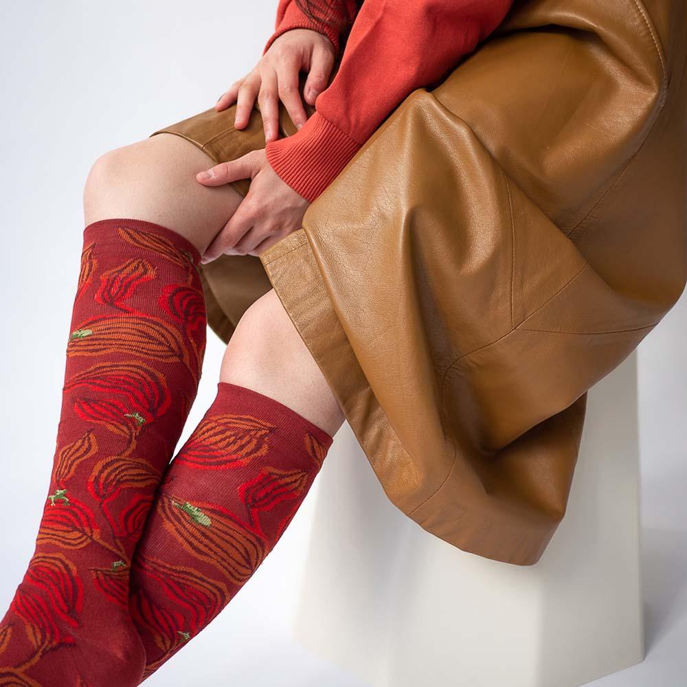 Bonne Maison 綠蛙點點 純棉長襪