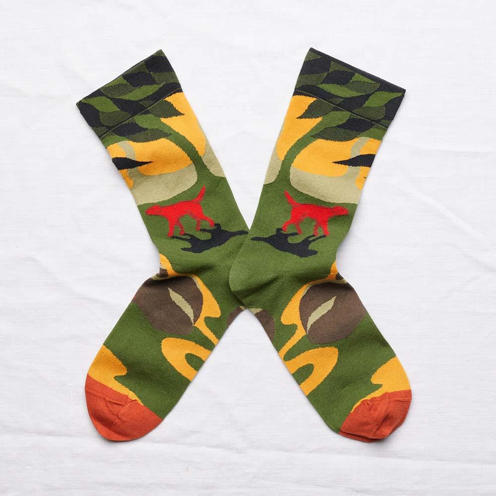 Bonne Maison|紅色獵犬 純棉織襪