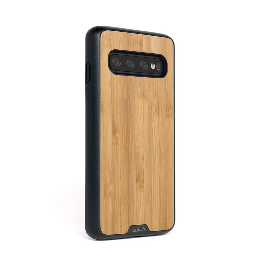 Mous|iPhone Limitless 2.0 天然材質防摔保護殼-竹紋(Samsung S10+)