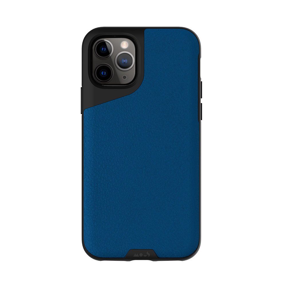 Mous|iPhone Contour 天然材質防摔保護殼-沉藍皮革 (iPhone 11 Pro /iPhone 11 /iPhone 11 Pro Max)