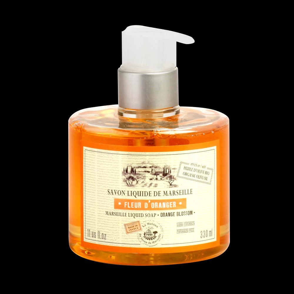 法國馬賽皂之家|滋潤液體馬賽皂- 漫舞橙花330ml