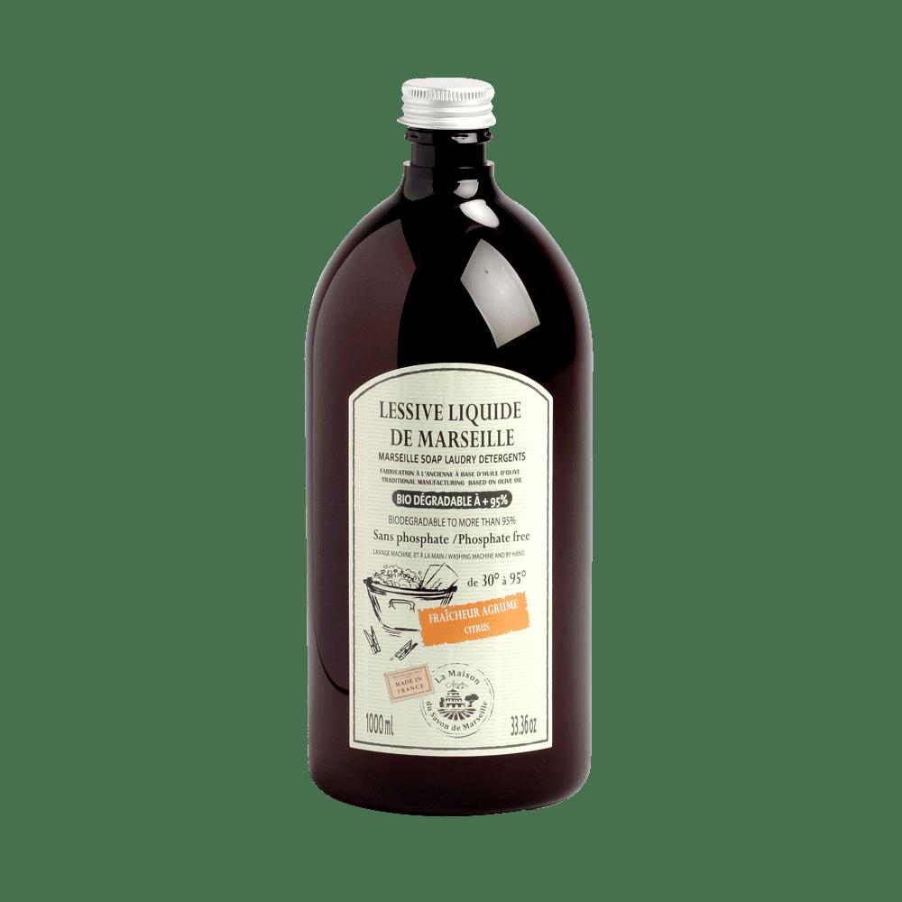 法國馬賽皂之家 正統馬賽黑皂防螨洗衣液1000ml (浪漫薰衣草、清新柑橘)