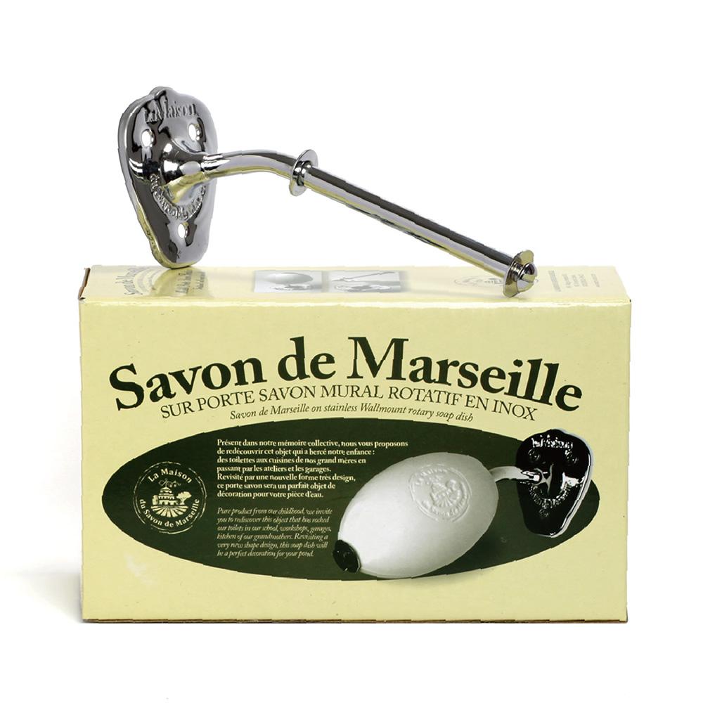 法國馬賽皂之家 不鏽鋼/黃銅壁掛肥皂架(含隨機蛋型護理馬賽皂1顆)