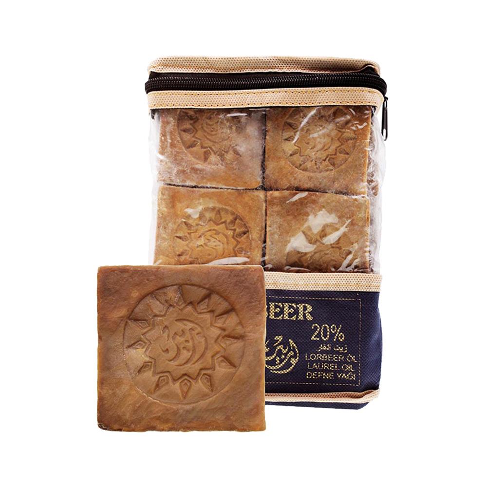 敘利亞洛貝爾Lorbeer|阿勒坡窖藏手工淨膚洗髮古皂20%月桂油175g 6入裝