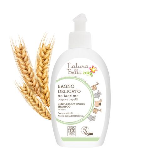義大利Natura Bella 貝拉|燕麥低敏無淚洗髮沐浴凝露300ml