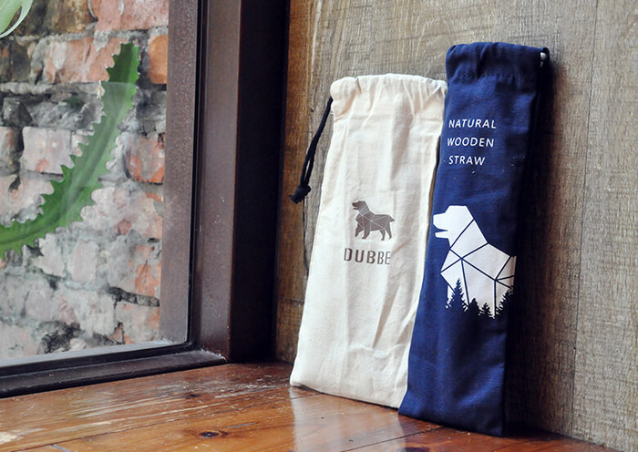 DUBBE | 天然棉質束口袋 Natural Cotton Bag (適用於木吸管、吸管刷、環保餐具)