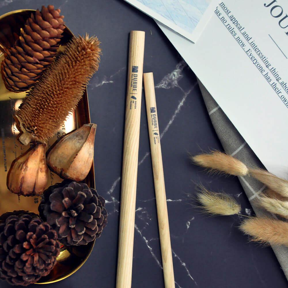 DUBBE|天然木吸管 Natural Wooden Straw (粗吸管x3)