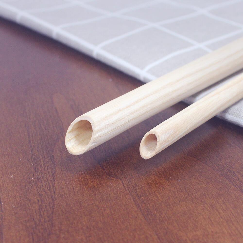 DUBBE|天然木吸管 1+1輕巧隨行包 經典原色