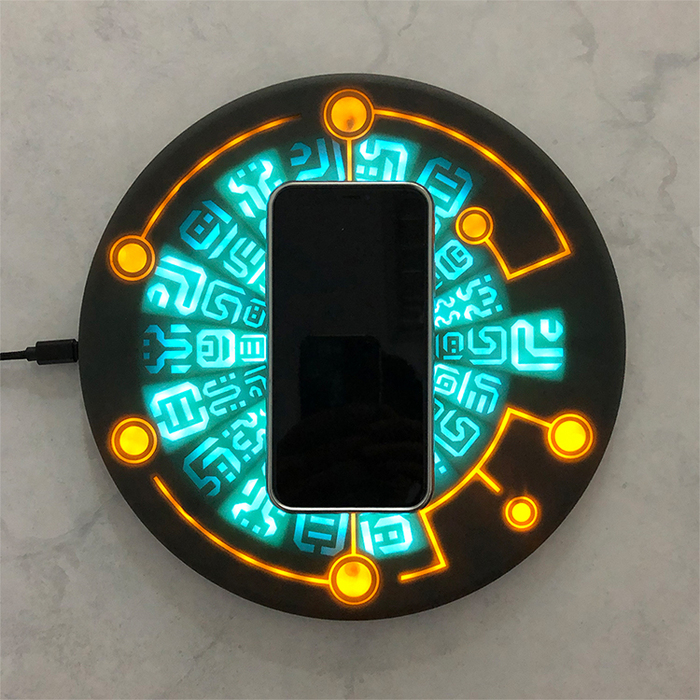 元兔計畫|能量之石無線充電器 10W 聲光旗艦版
