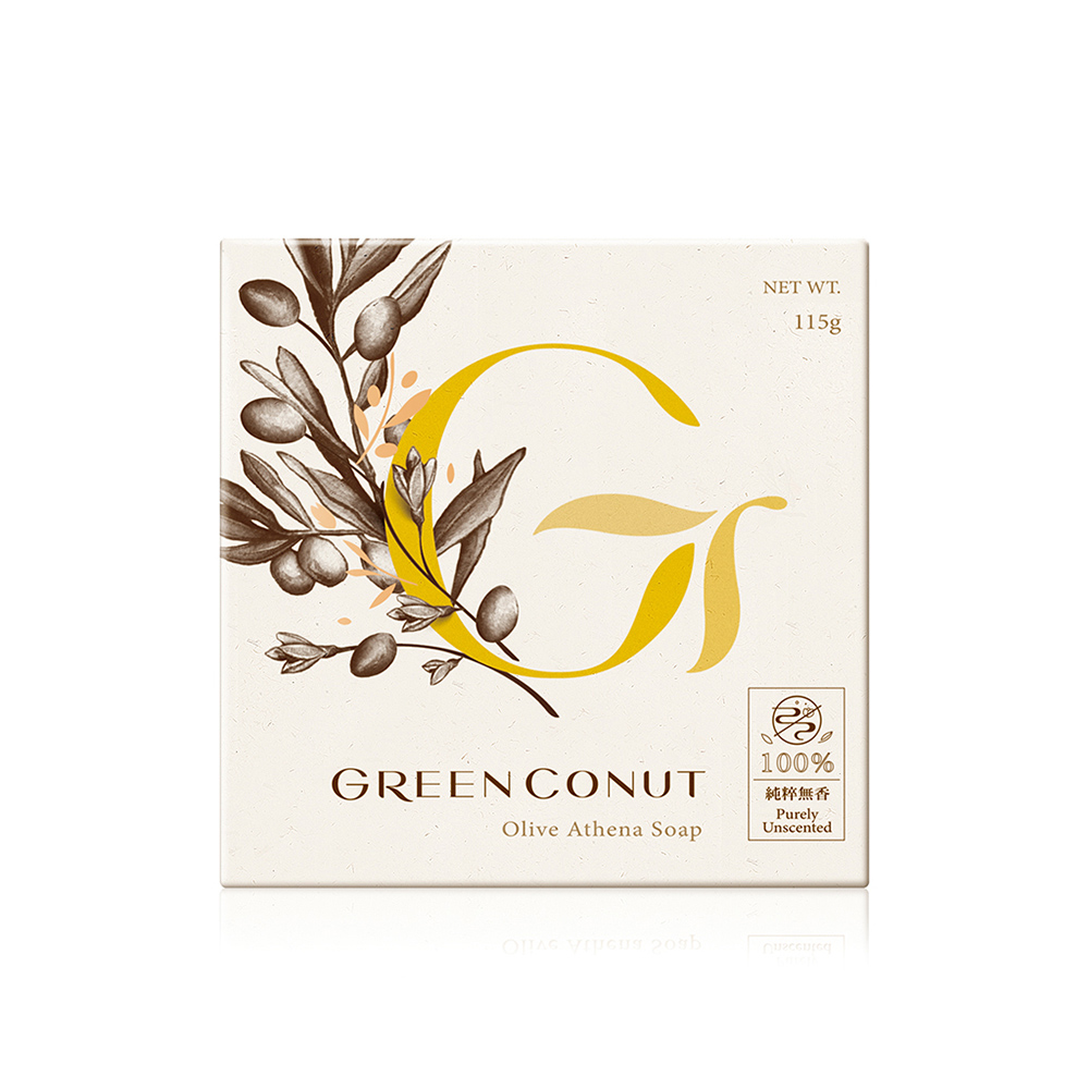 GREENCONUT綠果|女神雅典娜皂-115g