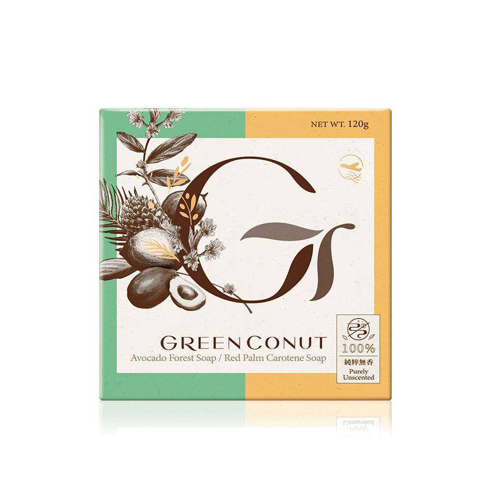 GREENCONUT綠果|雙色瑞豆豆皂 控油調理-120g