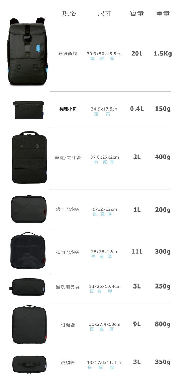Bagsmart |狂挺背包 - XBP背包組