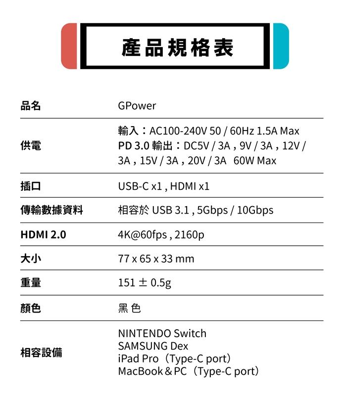 PhotoFast|GPower 4K投影充電轉換器