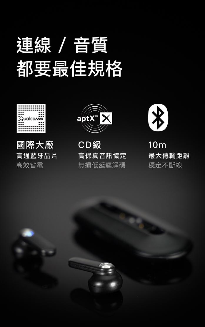 YOBYBO|CARD 20 世界最輕薄的無線耳機 - 太空黑