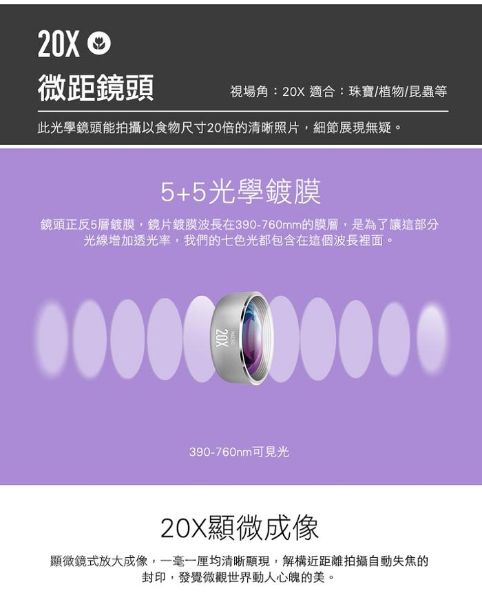 MOMAX| X-Lens 4合1鏡頭組合(專業版)-銀