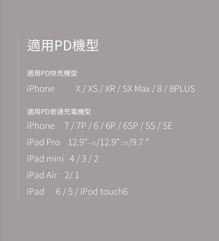 idmix|C-MFI PD 充電傳輸線1M (L09Ci) - 黑