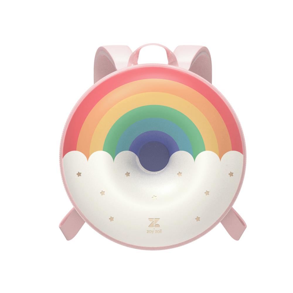 zoyzoii|甜甜圈兒童雙肩書包-彩虹甜甜圈