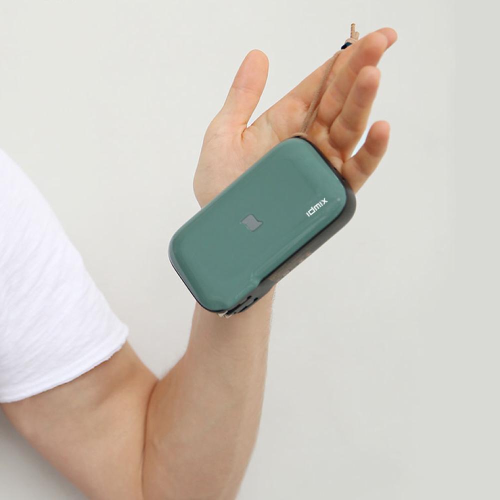 idmix MR CHARGER 10000 CH06 無線充電行動電源-綠