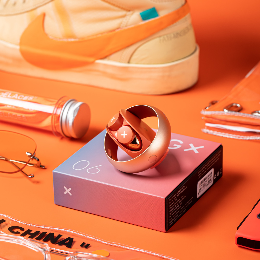 SONGX| 真無線藍牙耳機(SX06)-橘