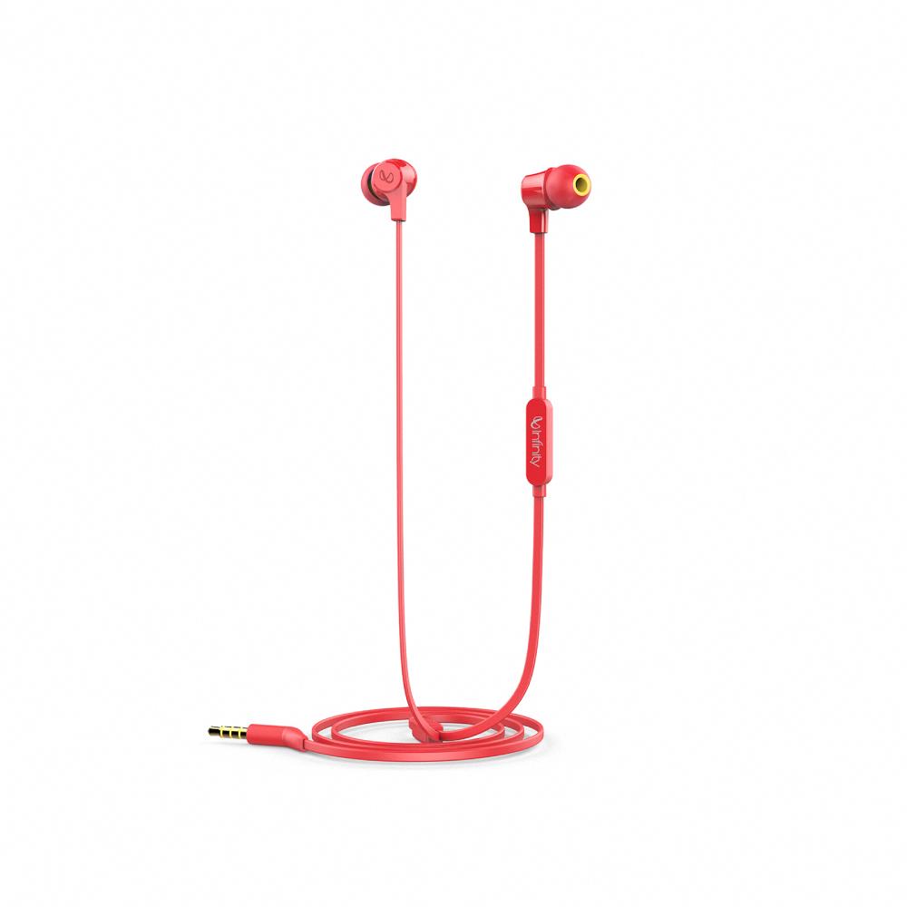 Infinity|WYND 300 立體聲耳道式耳機-紅