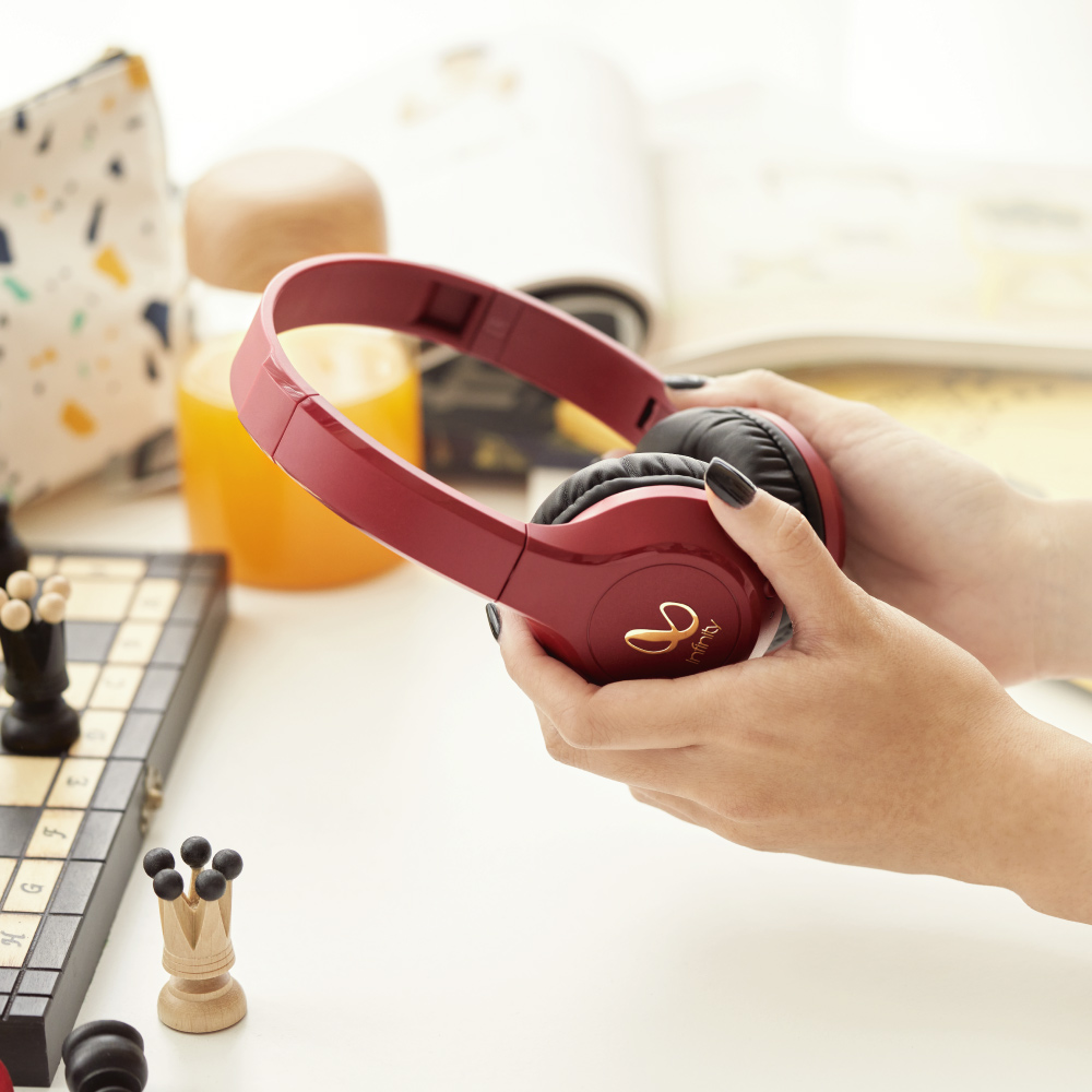 Infinity|無線貼耳式藍牙耳機 TRANZ 700-紅