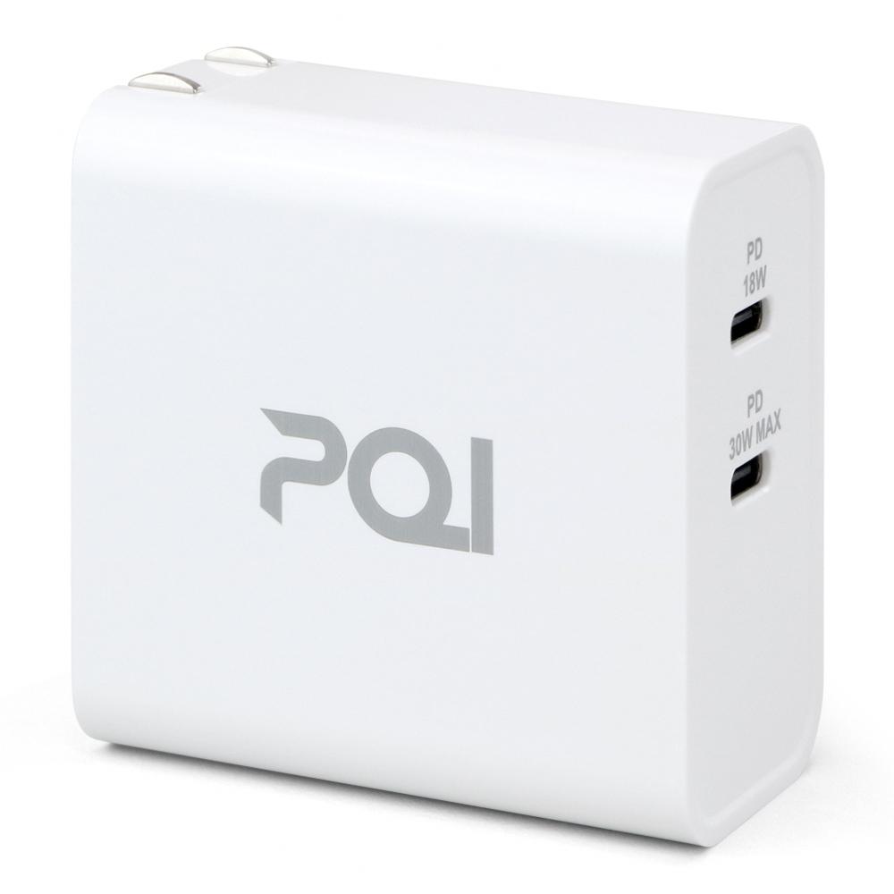 PQI|PDC36W 雙孔USB-C 電源供應器 (支援PD快充)