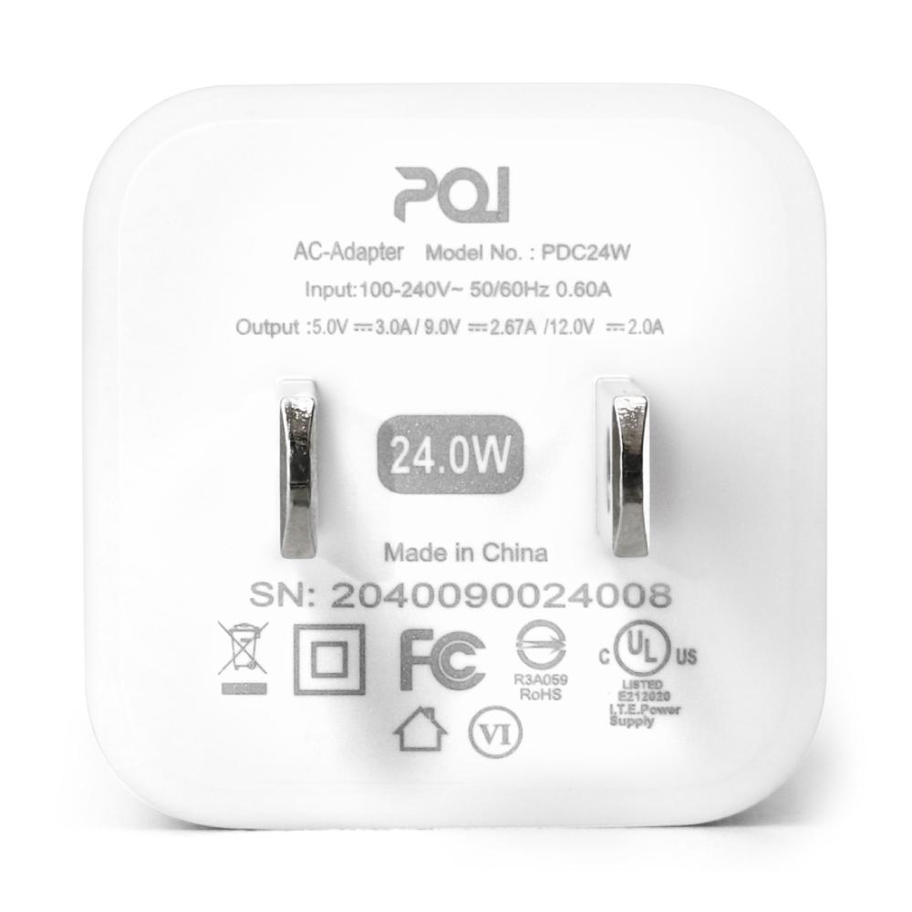 PQI|PDC24W USB C 電源供應器(支援PD快充)