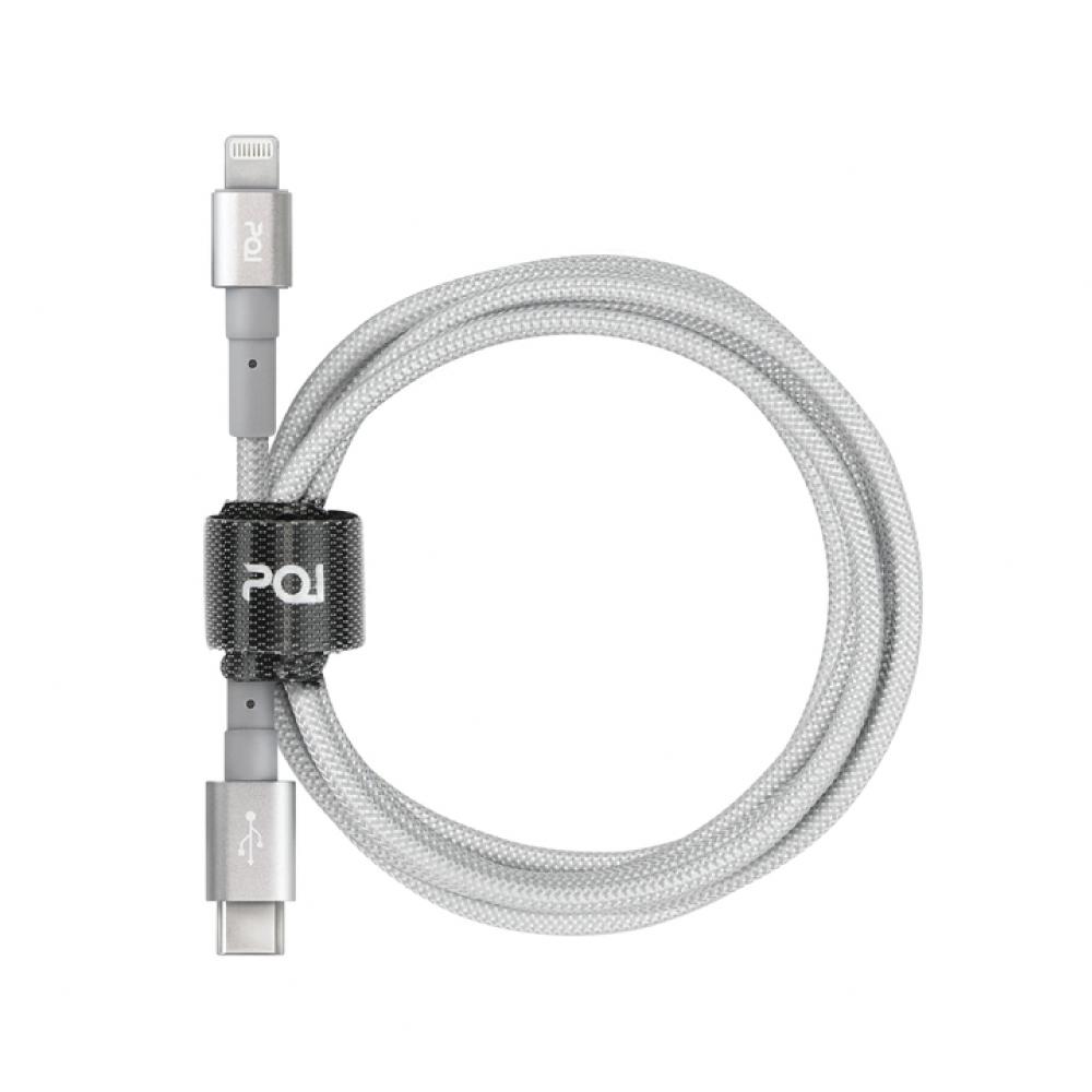 PQI|iCable CL100 C to Lightning 傳輸線_灰 (蘋果原廠認證線,支援PD快充)