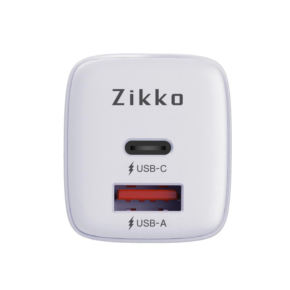 Zikko|20W PC3.0+QC4.0雙埠USB 智能分流快速充電器(C-20W2)