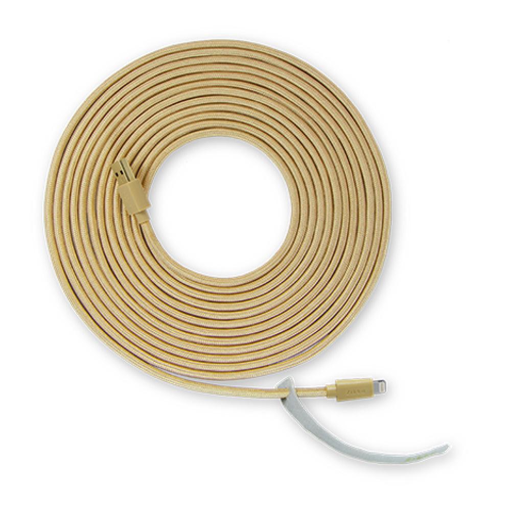 Zikko|SC500-500R MFI 蘋果原廠認證傳輸線(500cm)-金
