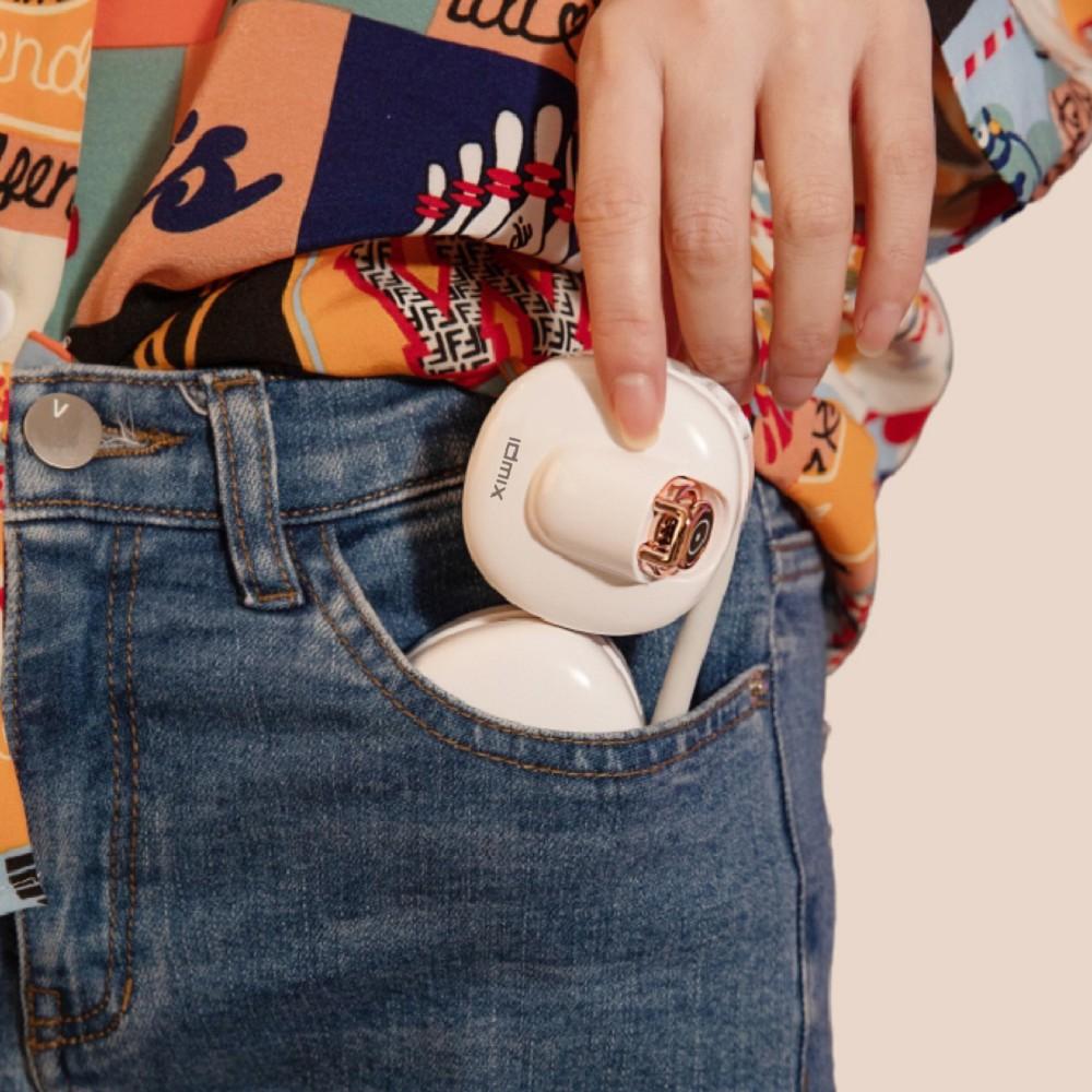 idmix|口袋掛脖USB小風扇Q40-F3-白