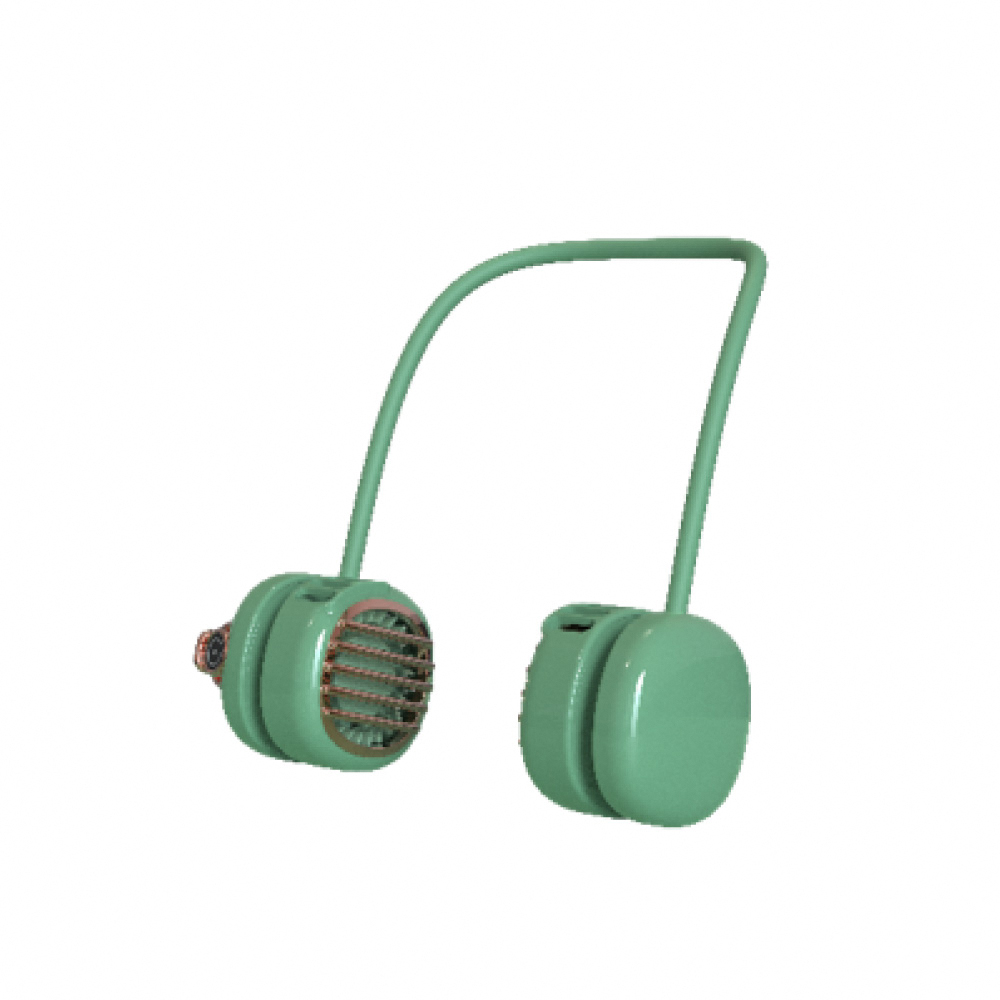 idmix|口袋掛脖USB小風扇Q40-F3-綠