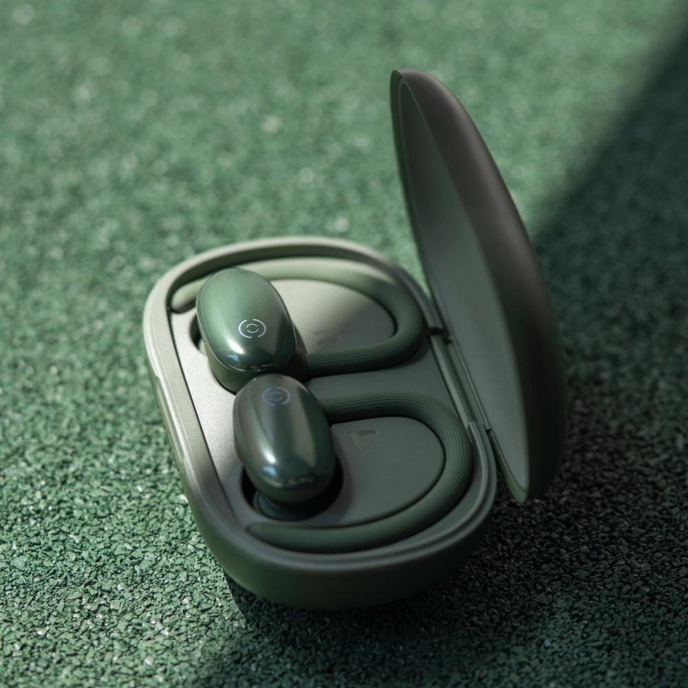 MOMAX|JOYFIT 掛耳+入耳式真無線運動藍牙耳機(BT3)-綠