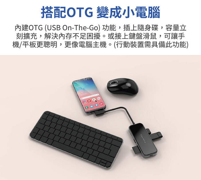 Feeltek|玻璃 8合1 無線充電組合式USB-C Hub多功能隨身集線器