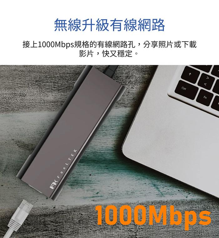 Feeltek|Portable 9 in 2 USB-C Hub多功能隨身集線器