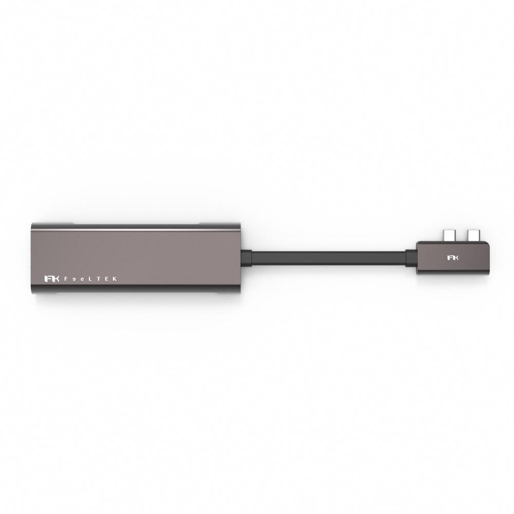 Feeltek|Portable 9 in 2 USB-C Hub多功能隨身集線器(HDMI*2)