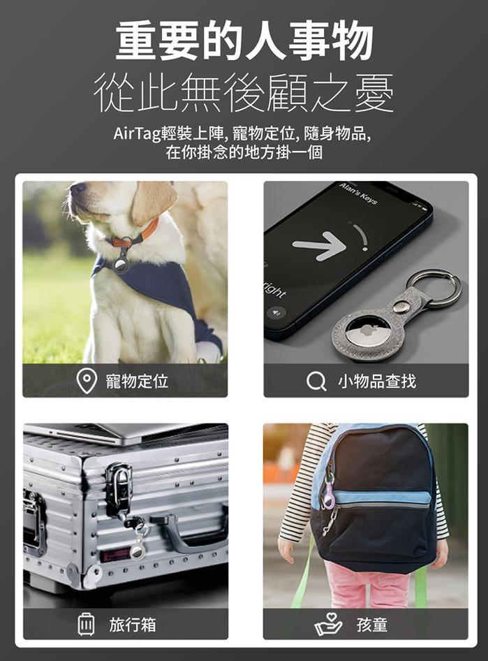 MOMAX|Ring Case AirTag 專用保護套(SR26)-淺灰