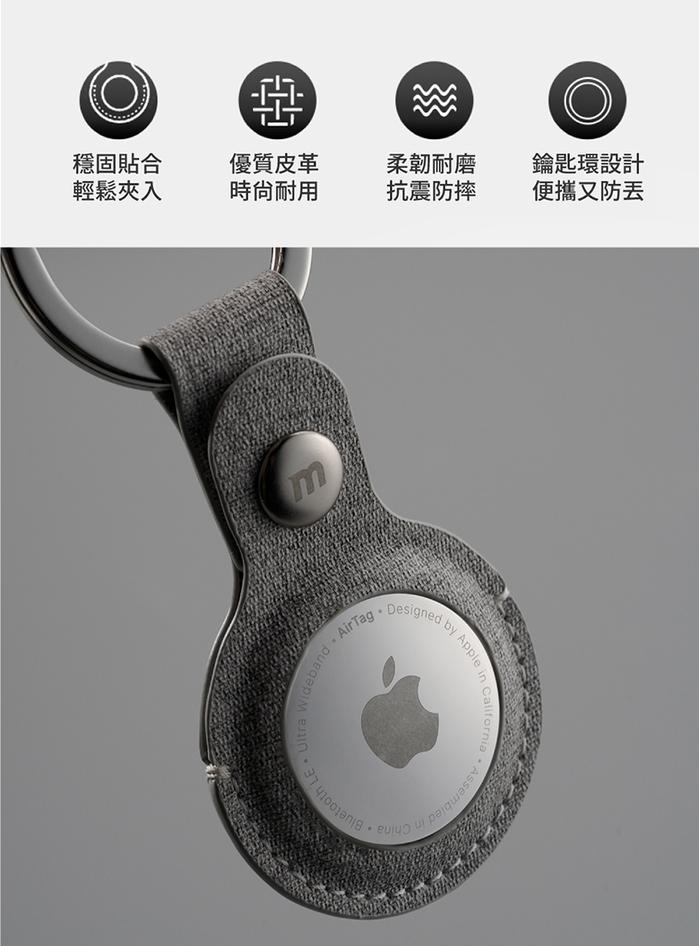 MOMAX Ring Case AirTag 專用保護套(SR26)-淺灰