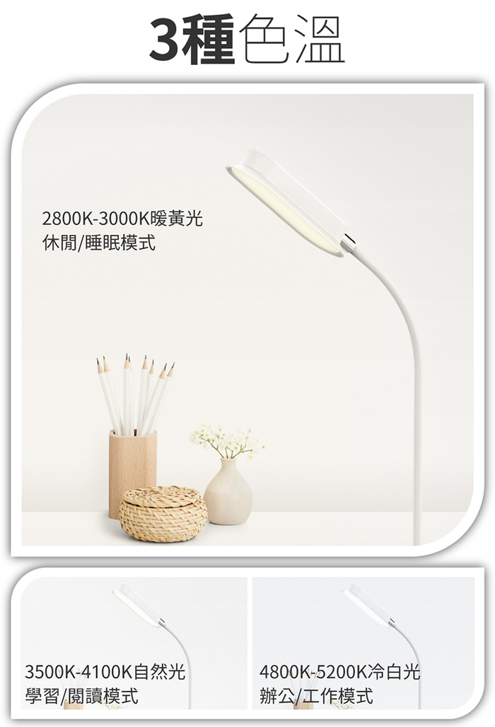 MOMAX|MOMAX Q.LED flex 無線充電檯燈(QL5)-白