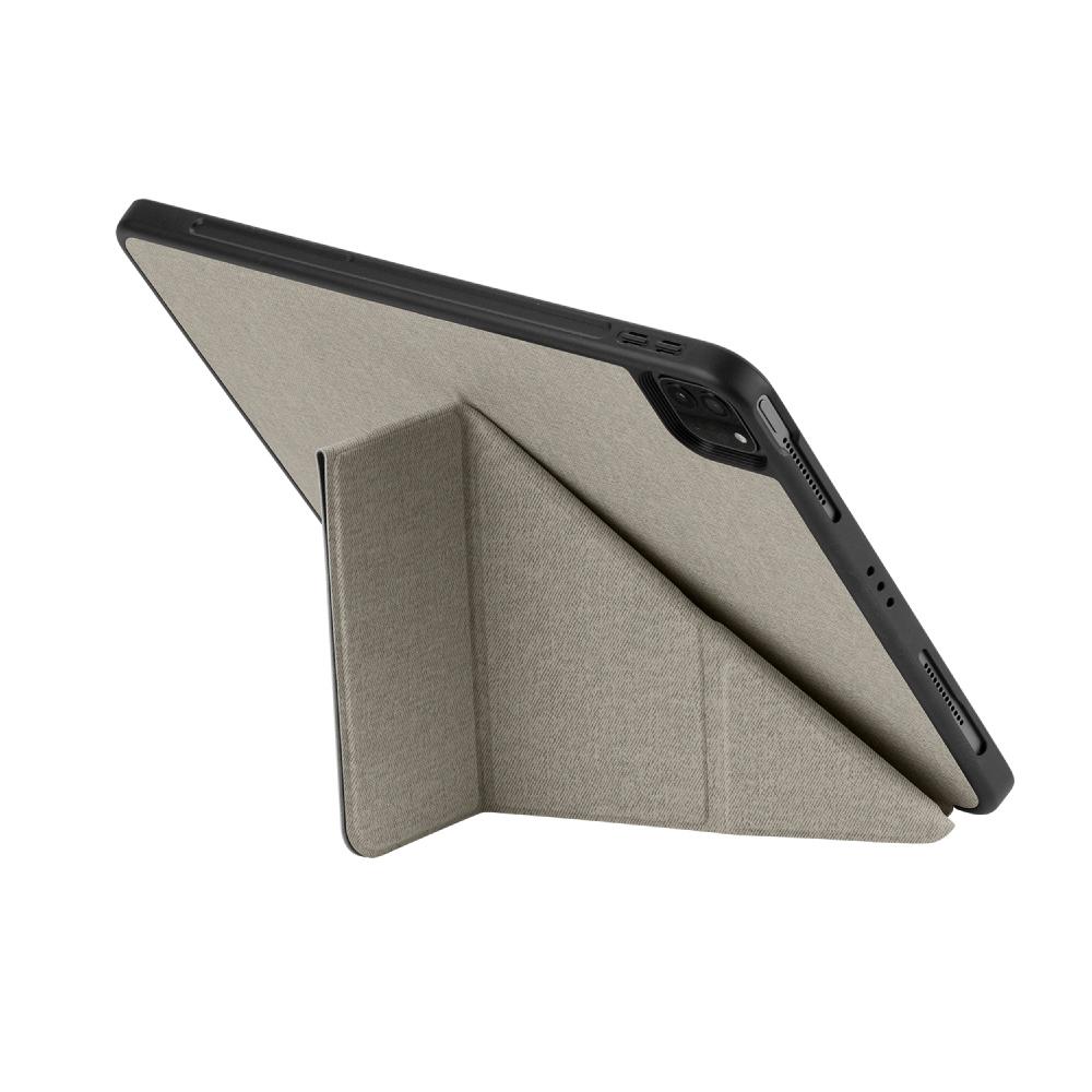 MOMAX|Flip Cover 連筆槽保護套(iPad Pro 12.9″ 2021)-淺灰