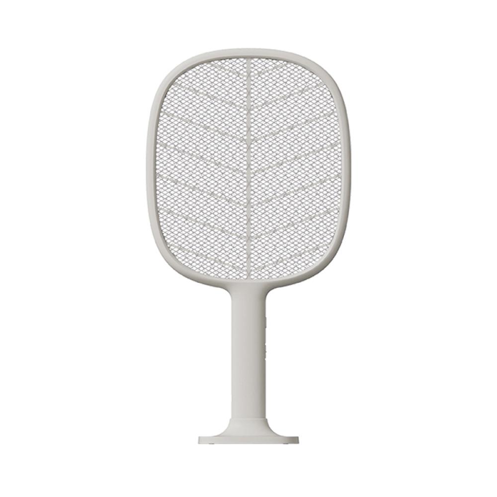 SOLOVE|P2+立式兩用電蚊拍(可當補蚊燈)-淺灰色