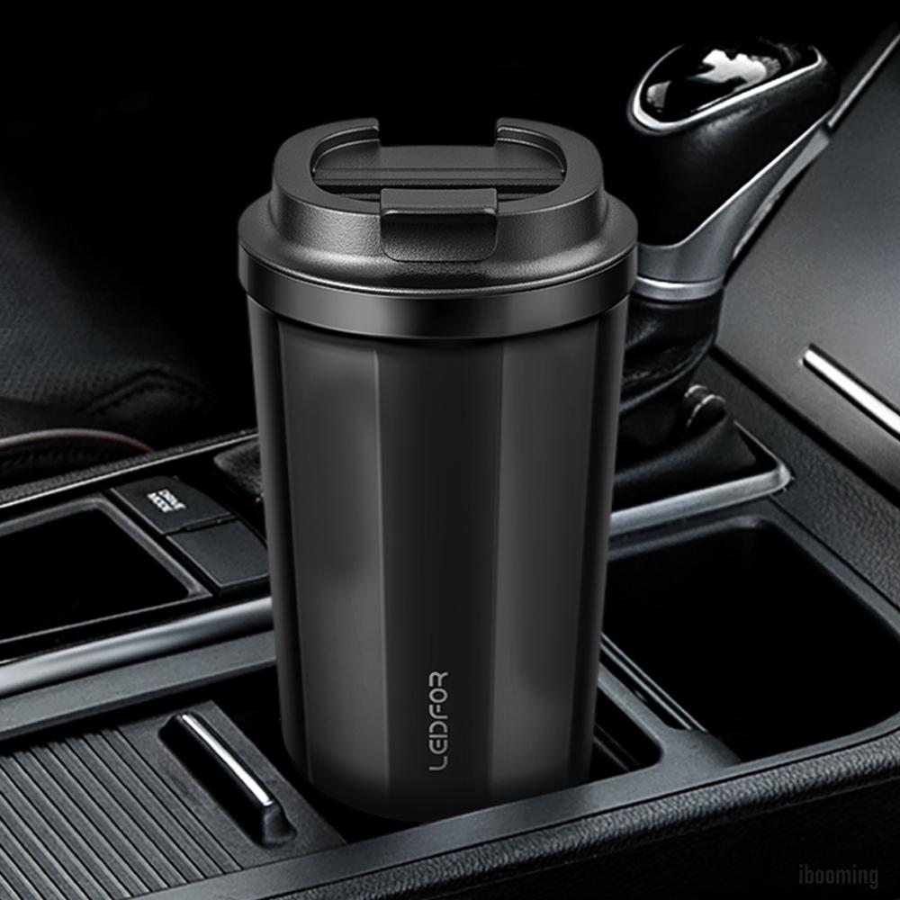 LEIDFOR 真空保溫咖啡杯500ml(L033)-黑