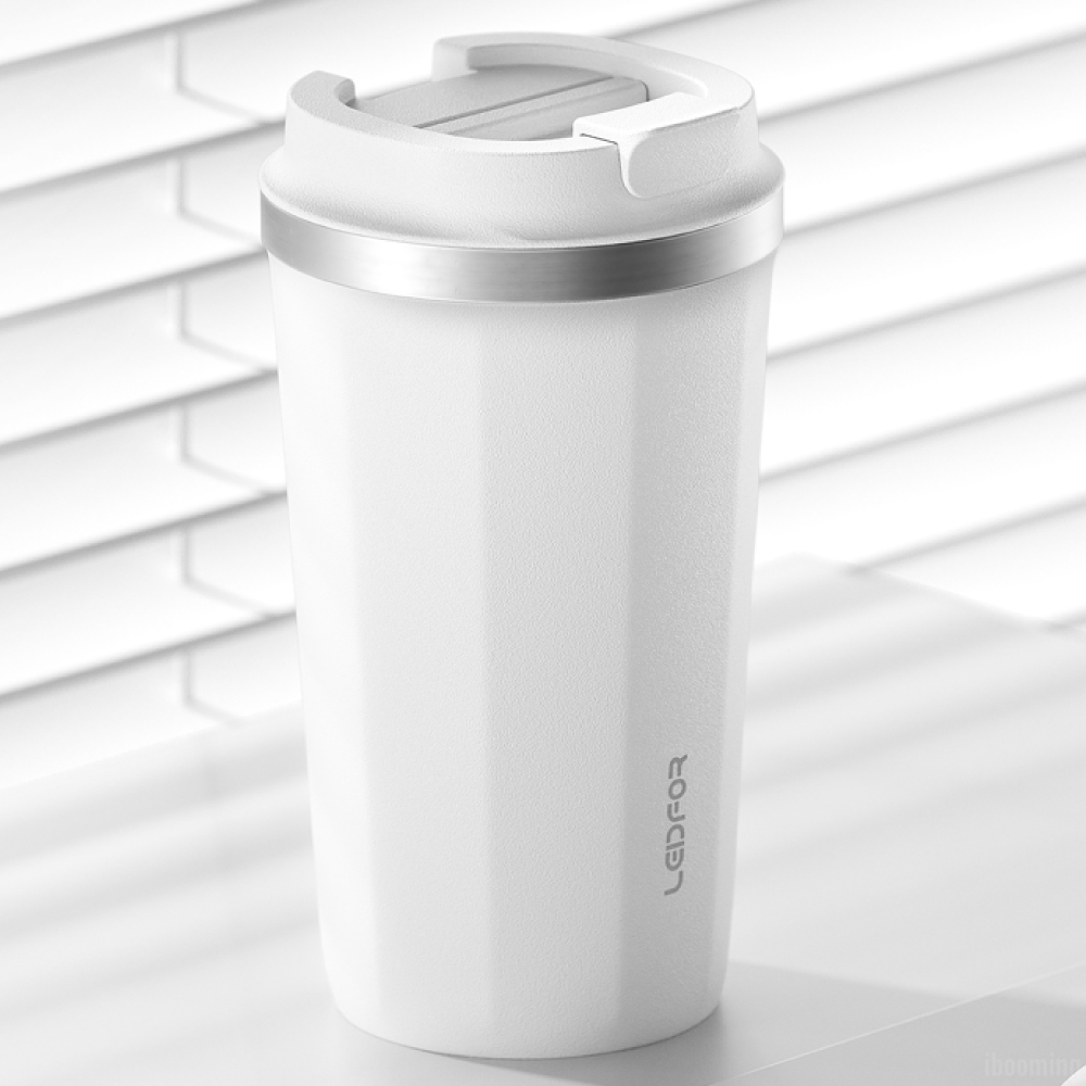 LEIDFOR|真空保溫咖啡杯500ml(L033)-白
