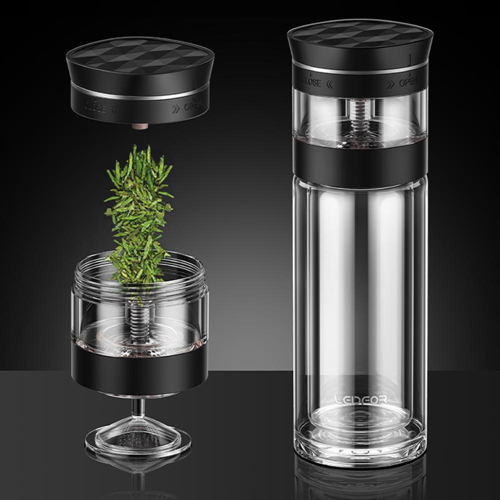 LEIDFOR|雙層耐熱玻璃杯300ml(L147)-黑