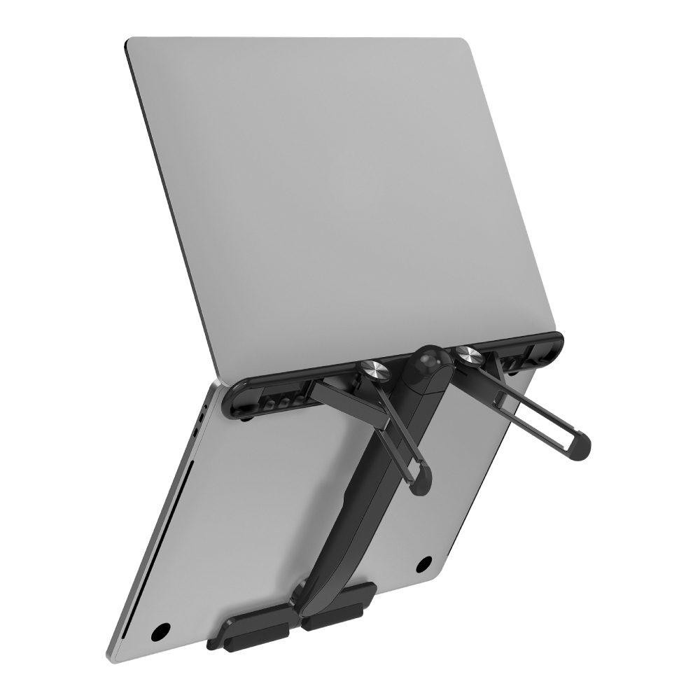 MOMAX|Fold Stand 飛機造型折疊筆電支架(KH2)-黑